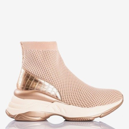 Pink women's sports shoes with an uppers a'la Golden sock - Footwear 1