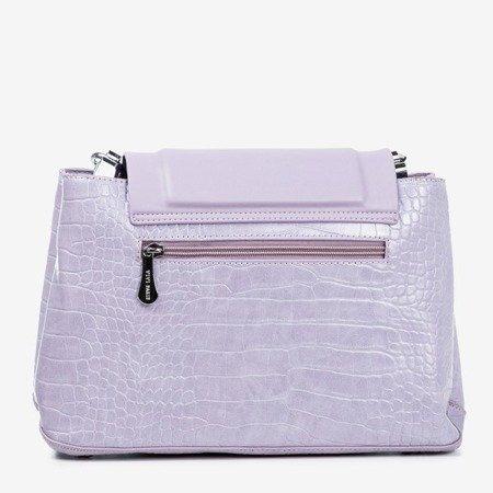 Purple women's handbag with animal embossing - Handbags 1