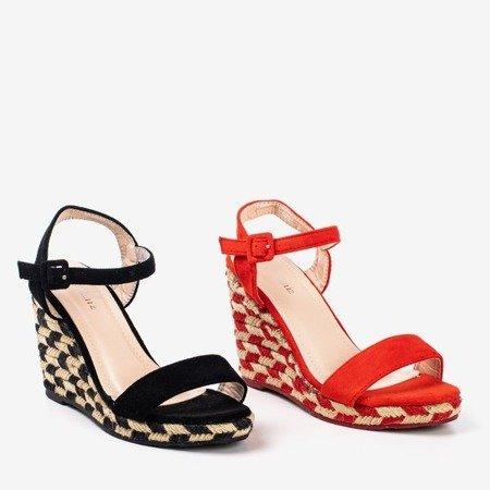 Red Porcissa wedge sandals - Footwear
