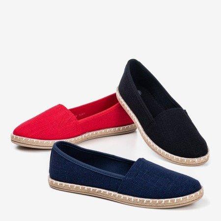 Red espadrilles from Marenda fabric - Footwear 1