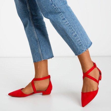 Red low-heeled sandals Philadelphia - Footwear 1