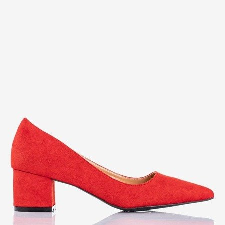 Red pumps on the low post Royale - Footwear 1