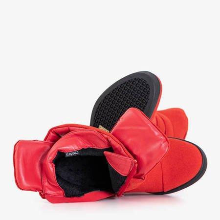 Red sneakers on an indoor wedge Brisa - Footwear