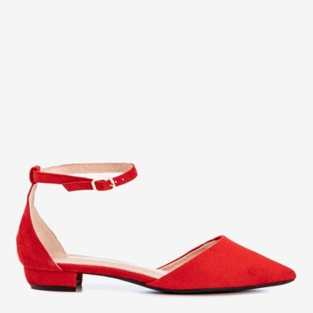 Red women's flat ballerinas Arinida - Footwear