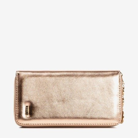 Rose-gold women's wallet with eco-leather - Wallet