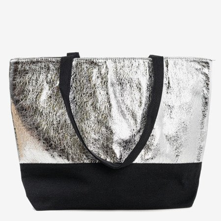 Silver women's shoulder bag - Handbags 1