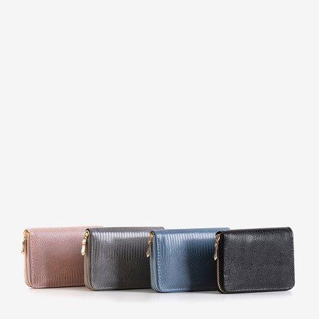 Small pink women's wallet a'la snakeskin - Wallet