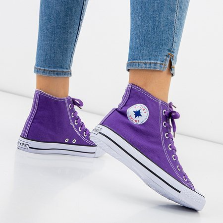 Violet women's high-top sneakers Inter - Footwear