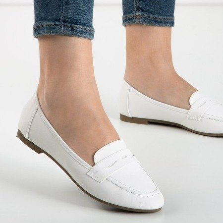 White Roselle women's loafers - Shoes 1