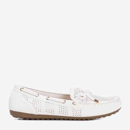White loafers with a bow Orisa - Footwear 1