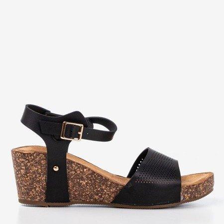 Women's black openwork sandals Elemia - Footwear