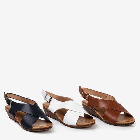 Women's black sandals on a low wedge Jaliga - Footwear
