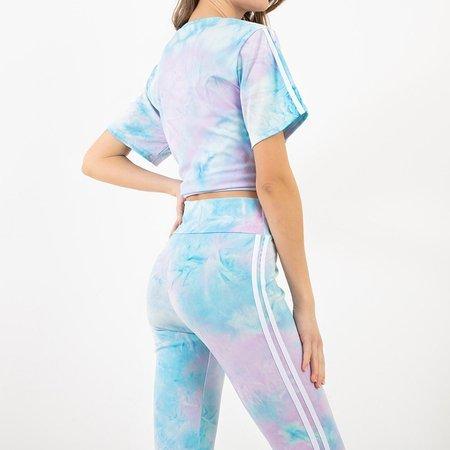 Women's blue tie dye sports set - Clothing