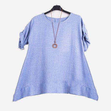 Women's blue tunic - Blouses 1