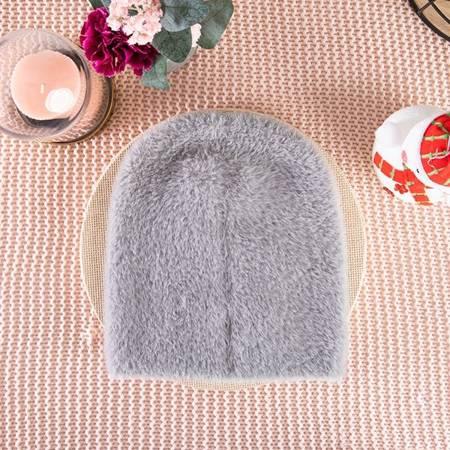 Women's gray fur hat - Caps