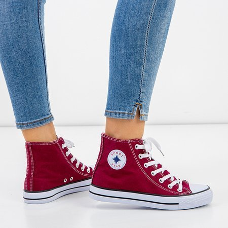 Women's maroon high-top sneakers Inter - Shoes