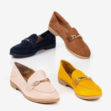 Women's mustard loafers with Hilawe toe detail - Footwear