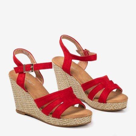 Women's red sandals Sirima - Footwear