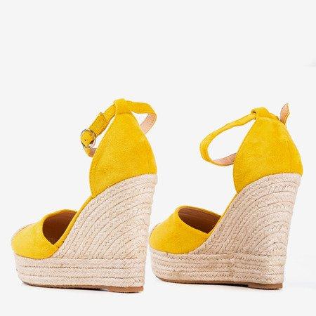 Yellow espadrilles on a wedge Miguelita - Footwear