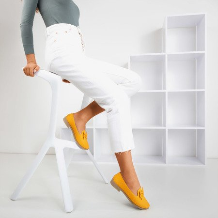 Yellow loafers with Flavisa bow - Footwear 1