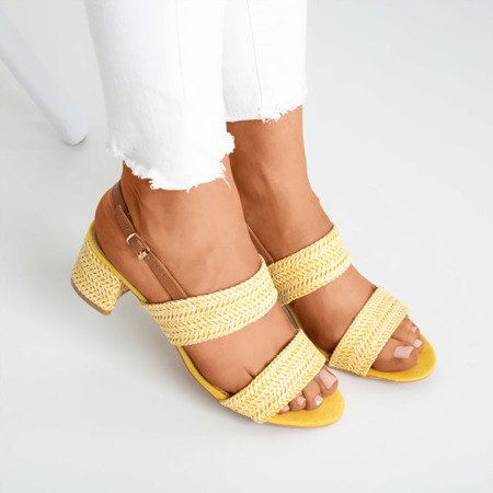 Yellow sandals on a low Riot post - Footwear 1