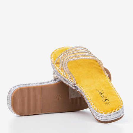 Yellow transparent slippers with cubic zirconia Noumeia - Footwear