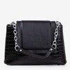 Black women's handbag with animal embossing - Handbags