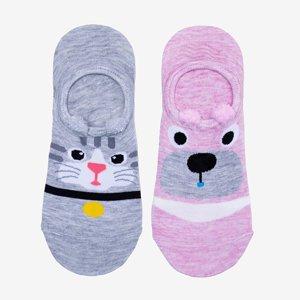 Colorful women's socks 2 / pack - Socks