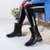 Fonti black women's slip-on boots - shoes