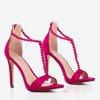 Fuchsia sandals on a higher Nastula heel - Footwear 1