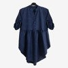 Ladies tunic in navy blue - Blouses 1