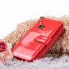 Large red lacquered women's wallet - Wallet