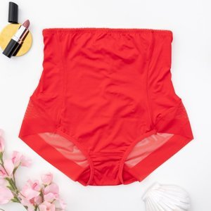 Red women's slightly shaping panties - Underwear