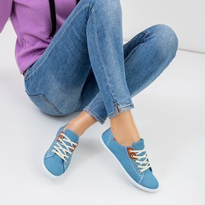 Sindri Blue Women's Lace-Up Sneakers - Footwear