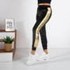 Women's black sweatpants with inscriptions - Clothing